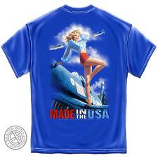 GREG HILDEBRANDT T Shirt MADE In The USA War Plane Pin Up Girl S M L XL XXL XXXL