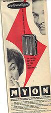 PUBLICITE ADVERTISING  1956   MYON  briquet automatique