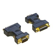 DVI Female to SVGA VGA Male Adaptor Converter GOLD - SENT TODAY