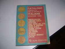 LIBRO CATALOGO UNIFICATO DELLE MONETE ITALIANE EDIZIONE 1989 ALFA EDIZIONI