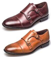 London Brogues Mens Leather Sole Bucanon Brogue Monk Shoes