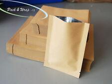 Heat-Seal Kraft Paper Pouches aluminium foil bags food grade pouch bag sample