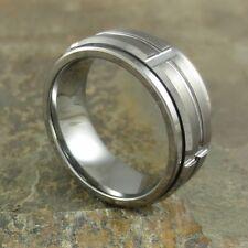 9 MM Men's Grooved Spinner Tungsten Ring #59