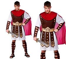 Roman Toga Outfit Centurion Mens Gladiator Fancy Dress Costume S-XL