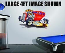 Madd Doggs 30's Hotrod Cartoon Car Decal Graphic Corhole Tool Box Trailer