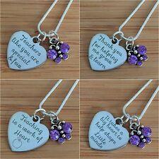 Teacher Gift Necklace - For Best teacher, Teaching assistant & nursery teacher..