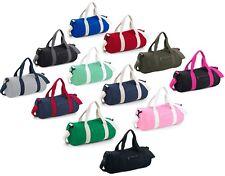 d9bef4f7ce Plain BLUE ARMY GREEN RED PINK GREY Varsity Barrel Duffle Kit Bag (20  Litres)