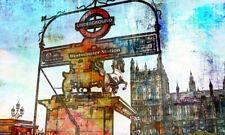POSTER XXL POP ART GRAFFITI LONDON WESTMINSTER UBAHN ABSTRAKT  BIS 150x90