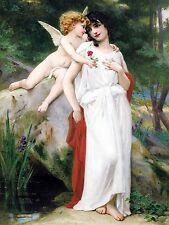 First Love G. Seignac girl angel Cupid Tile Mural Backsplash Art Marble Ceramic