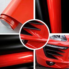 (6,57€/m²) BLASENFREIE Hochglanz Folie ROT Red Autofolie Glanz 3D flex Wrap Auto