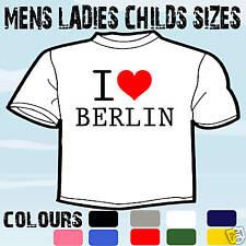 I LOVE HEART BERLIN T-SHIRT ALL SIZES & COLOURS