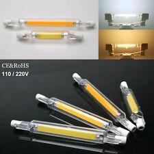 R7s Ampoule LED à Variation Tube en Verre Clair Céramique 78mm 118mm Halogène