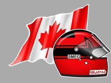 G. VILLENEUVE helmet right Flag Sticker droit