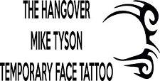 The Hangover Mike Tyson Tatuaje Temporal Transferencia de fiesta noche de ciervo