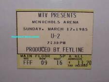 U2 Concert Ticket Stub 1985 Denver McNichols Arena Very Rare U-2 Bono