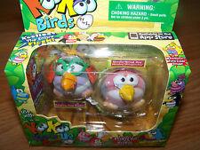 Koo Koo Zoo KooKoo Flocked Birds 2 Pack Bird Woodpecker & Gargling Pond Trotter
