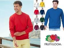 Felpa Uomo Fruit of The Loom Maglia Girocollo Cotone Set In Personalizzabile