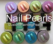 Cosmetic Nail Polish Powder Pearl Flakes Holographic Shimmer Glidder Enamel Tips