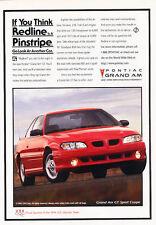 1996 Pontiac Grand Am GT Sport Coupe - Classic Vintage Advertisement Ad D156