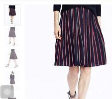NWT BANANA REPUBLIC $ 78 Navy Pleated Stripe Skirt_Sz 12,14