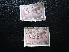 AUSTRALIE timbre yt aerien n°5 6 obl - stamp australia