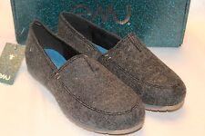 NEW! NIB! EMU Australia Charcoal Gray Wool DAYTON Slip On Loafer Espadrille Sz 7