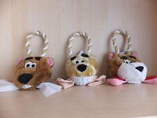 Cheeky bear head dog pull toy avec squeaker dto 16