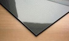 Noir fibre de carbone effet abs plastique feuille 2mm A3 A4 formage sous vide