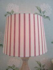 Handmade Tapered Drum Lampshade Laura Ashley Farnworth Stripe Cranberry fabric