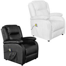 Massagesessel Fernsehsessel Relaxsessel TV Sessel mit Heizfunktion schwarz/ weiß