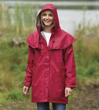 Donna County Estate Impermeabile Mantello Cappotto Giacca Per La Pioggia