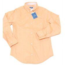 9727F camicia rosa pesca FAY JUNIOR BOTTON DOWN MANICA LUNGA camicie bimbo shirt