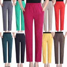 100% mulberry silk Women Summer Elastic Waist Loose Ladies Casual Pants Trousers