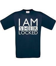 I Am Sherlocked Mens T-Shirt - Funny Holmes Quote Slogan Sherlock Gift Top Dad