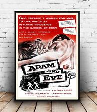 Adam & Eve: vecchi film poster riproduzione