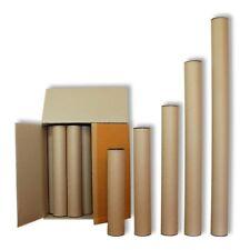Lot 30 tubes d'expédition long de 60 cm en carton robuste et capuchons (30086)