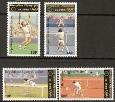 República Centroafricana Juegos Olímpicos 1986/tenis estampillada sin montar o nunca montada