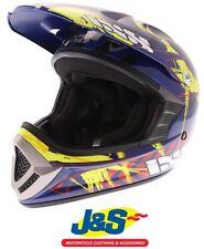 IXS HX 276 Ice Blue Red Yellow MX Motocross Off-Road Motorcycle Helmet Bike J&S