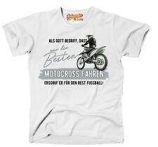 Unisex T-Shirt GOTT besten MOTOCROSS fahren Bike NO Fußball Siviwonder Motorrad