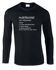 Nutritionist Men's Long Sleeve T-Shirt Definition Gift Job Work Food Nutrition
