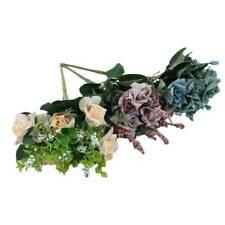 10 Heads/Bunch Artificial Flower Rose Bouquet Simulation Plant Home Vase Decor