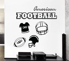 Wall Decal American Football Sports Kids Room Decor Vinyl Stickers Art (ig2589)
