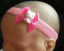 BABY GIRL/REBORN DOLL CANDY PINK BOW  HELLO KITTY HEADBAND