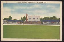 Postcard ONEIDA,Tennessee/TN    B & Z Motor Court & Restaurant view 1940's