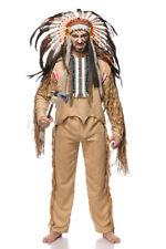 Costume uomo INDIANO NATIVO AMERICANO taglia M,L,XL,2XL travestimento Halloween
