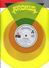 KROKUS tokyo nights YELLOW VINYL 12INCH 45 RPM UK RARE