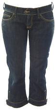 BLUE BLOOD Women's Dark Wash Puk Relaxed Fit Capri Denim Jeans NEW