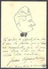 Juan Espantaleon Caricature In Ink & Signature 1929