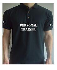 Stampato Personal Trainer Polo T Shirt Allenamento Palestra Training Tee PT + stampato sul retro