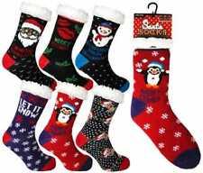 Womens Christmas Themed 'HEAT MACHINE' Warm and Cosy Winter Slipper Socks